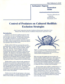 Control of Predators on Cultured Shellfish