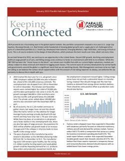Parallel Advisors Q4 2014 Newsletter