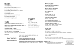 FULL MENU - The South Philadelphia Tap Room
