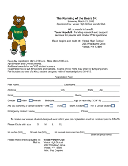 Running of the Bears Registration Form