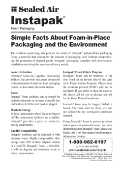 Simple Facts About Foam-in-Place Packaging and the