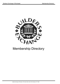 Membership Directory - Builders Exchange of Rochester