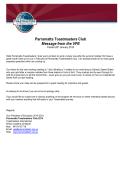 Future programs - Parramatta Toastmasters Club