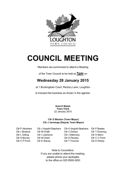 agenda - Loughton Town Council