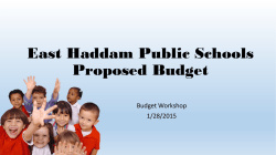 1 28 2015 Budget Workshop Presentation