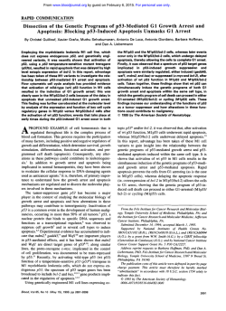 Dissection of the Genetic Programs of p53-Mediated G1