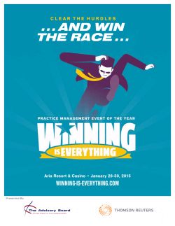 2015 - Winning is Everything