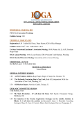 Tentative Meeting Agenda