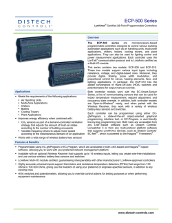ECP-500 Series - Distech Controls