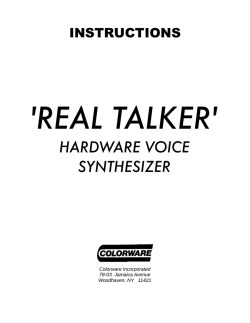 Real Talker Manual - TRS-80 Color Computer Archive