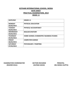 kothari international school, noida date sheet practical examination