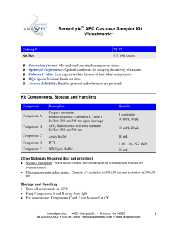 SensoLyte AFC Caspase Sampler Kit *Fluorimetric*