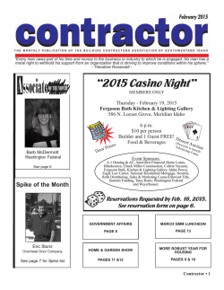 February Contractor Issue - Building Contractors Association of