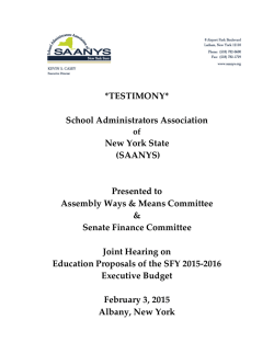 Present - School Administrators Association of New York State
