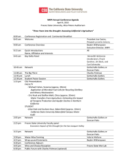 WRPI Annual Conference Agenda April 9, 2015 Fresno State