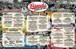 Menu - friends american grill