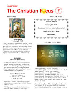 Current Newsletter - First Christian Church