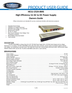 Owners Guide - DuraComm Power Supplies