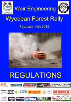REGULATIONS - Wyedean Forest Rally