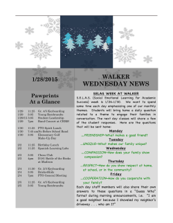 WEDNESDAY NEWS - Walker Elementary PTO