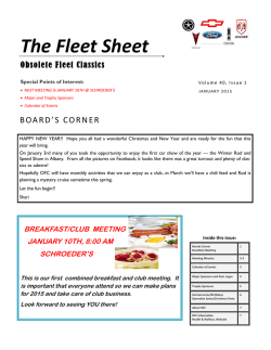 Current Newsletter - Obsolete Fleet Classics