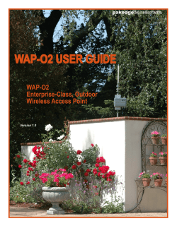 WAP-O2 USER GUIDE