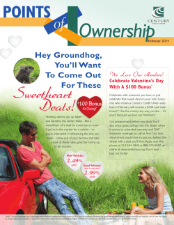 Sweetheart Deals! - Century Credit Union
