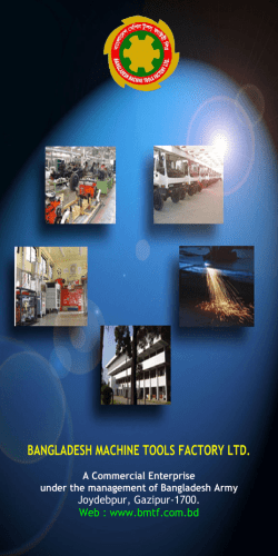 Brochure-BMTF - Bangladesh Machine Tools Factory Ltd. (BMTF)