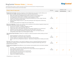 RingCentral Release Notes | January