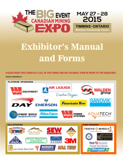 Exhibitor PDF Manual - Canadian Mining Expo