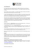 Odd Job Person/January 2015 General Background Eton College
