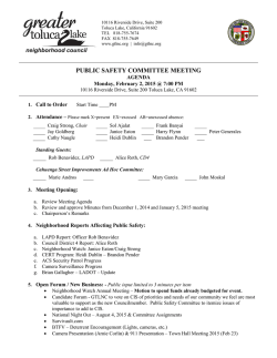 Agenda - Greater Toluca Lake Neighborhood Council
