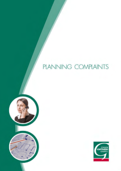 Information leaflet: Planning Complaints and the Enforcement Unit