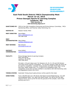 2015 district meet notice - Hagerstown YMCA Gators Swim Team