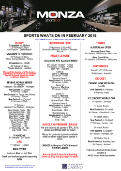 February Sports Guide