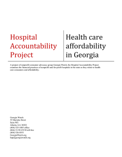 Healthcare Affordability in Georgia