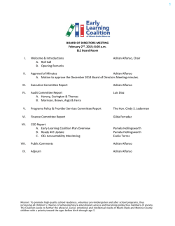 ELC Board of Directors Meeting: Februaury 2, 2015