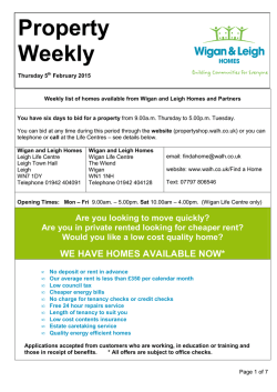 Weekly List - Wigan and Leigh Housing