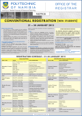 Conventional Registration (New Students)