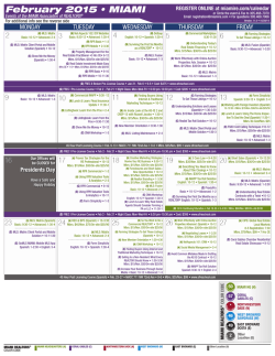 Miami-Dade Print Calendar - Miami Association of Realtors