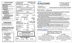 Bulletin - Kingsway Jewish Center