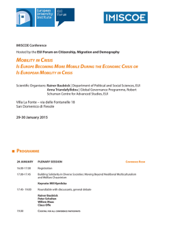Mobility in Crisis - European University Institute