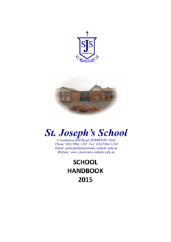 to download our 2015 School Handbook (pdf)