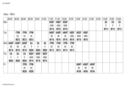 Time Table - MCAST ICT