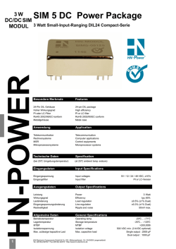 SIM 5 DC Power Package