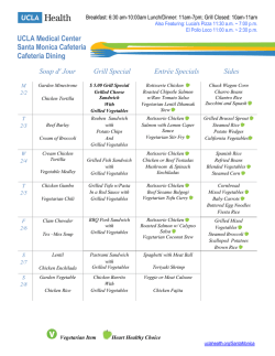 Weekly menu - UCLA Health System