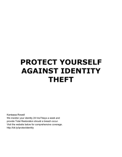 Identity Theft Protection.Kanteasa