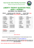 LIBERTY TROPHY QUARTER FINAL KENT v DORSET