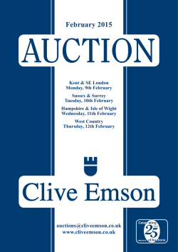 February 2015 - Clive Emson Auctioneers