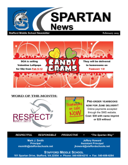 SPARTAN News - Stafford Middle School